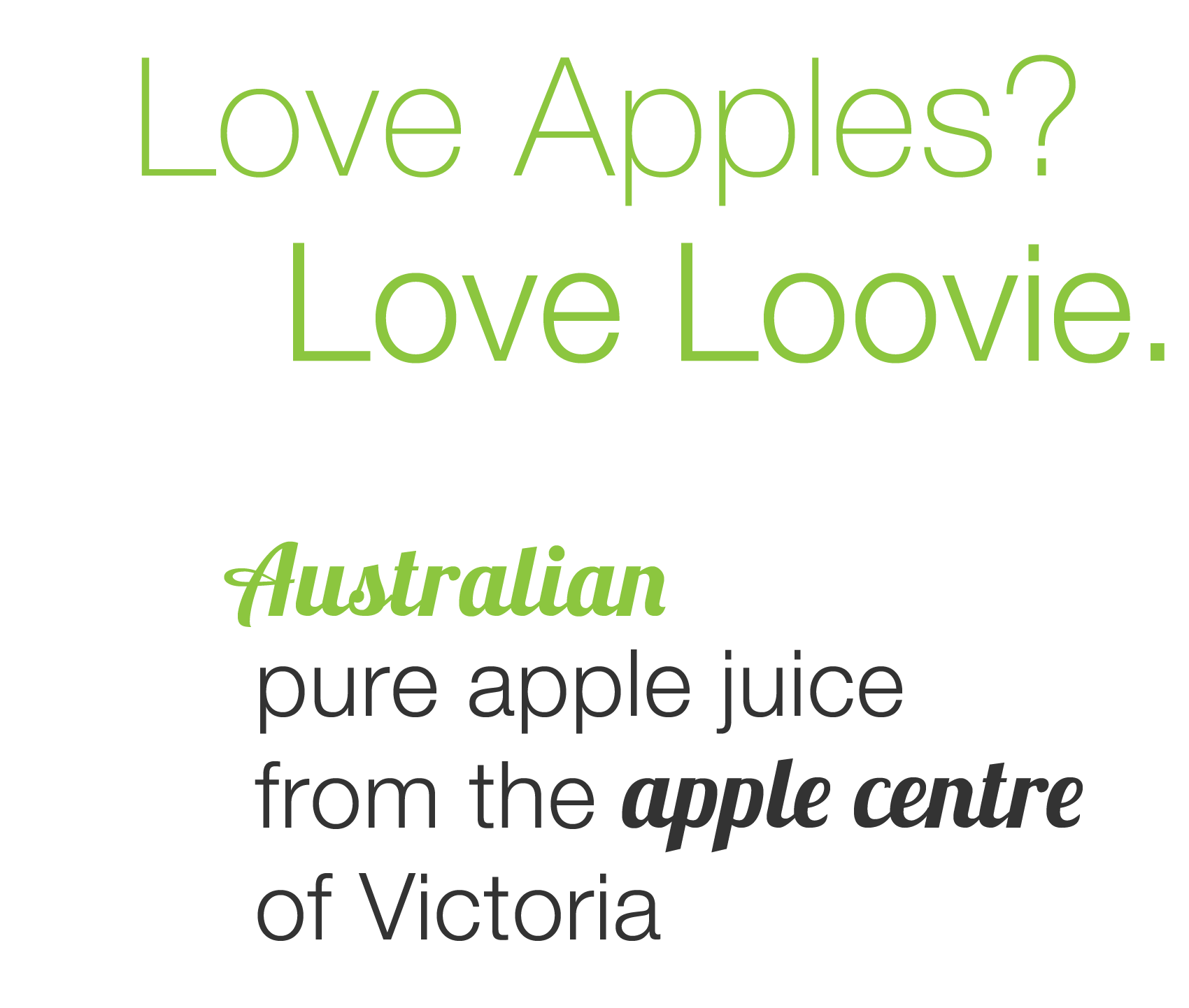 Love Apples? Love Loovie.